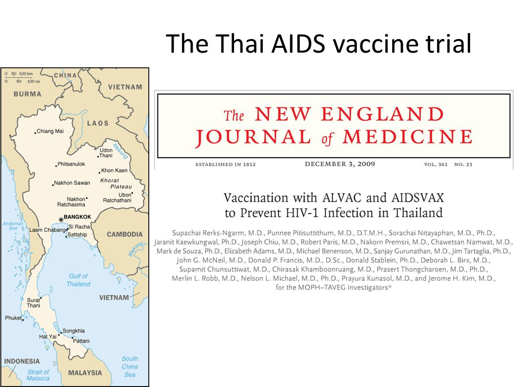 The Thai AIDS vaccine trial