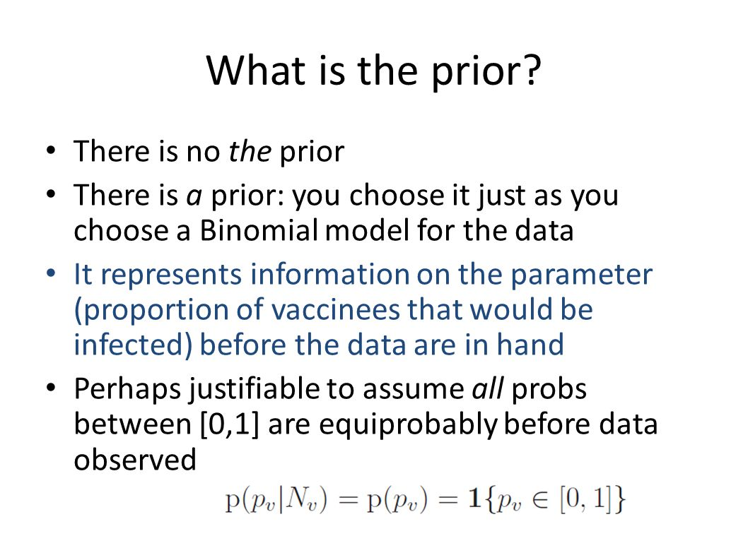 What is the prior.