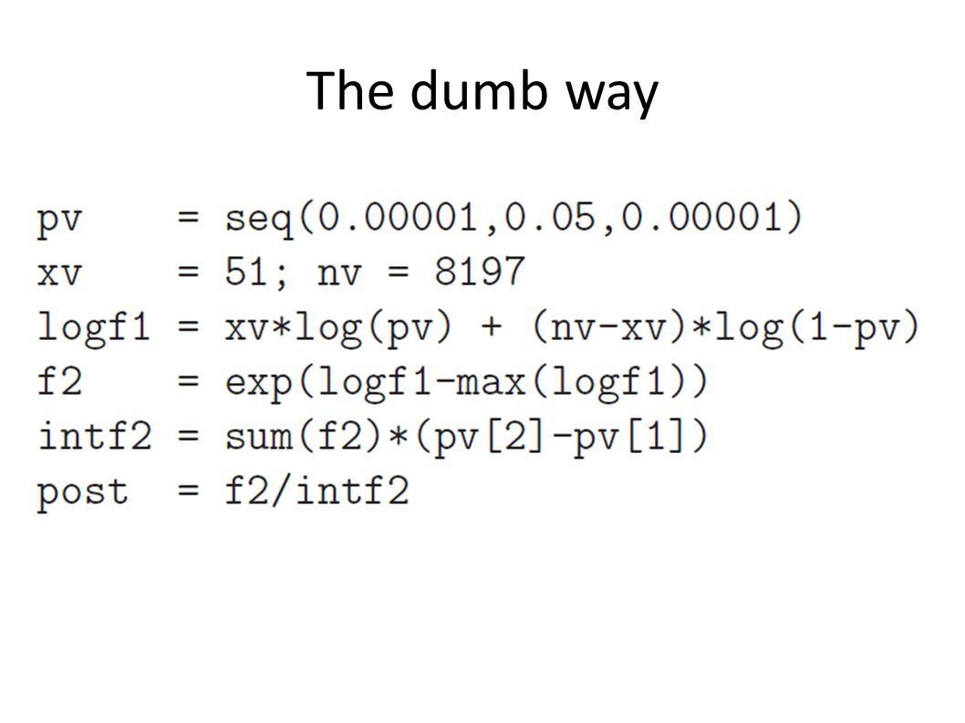 The dumb way