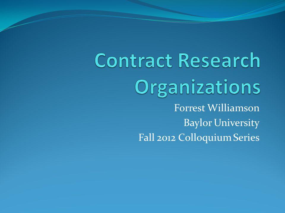 Forrest Williamson Baylor University Fall 2012 Colloquium Series