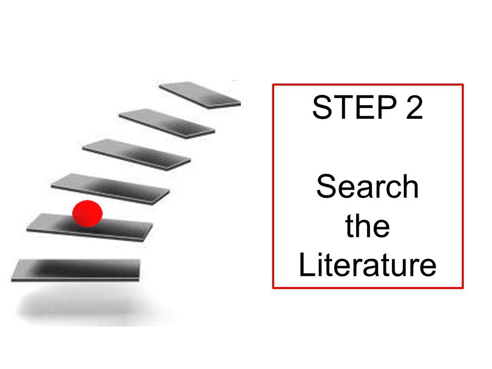 Step 7 Present findings