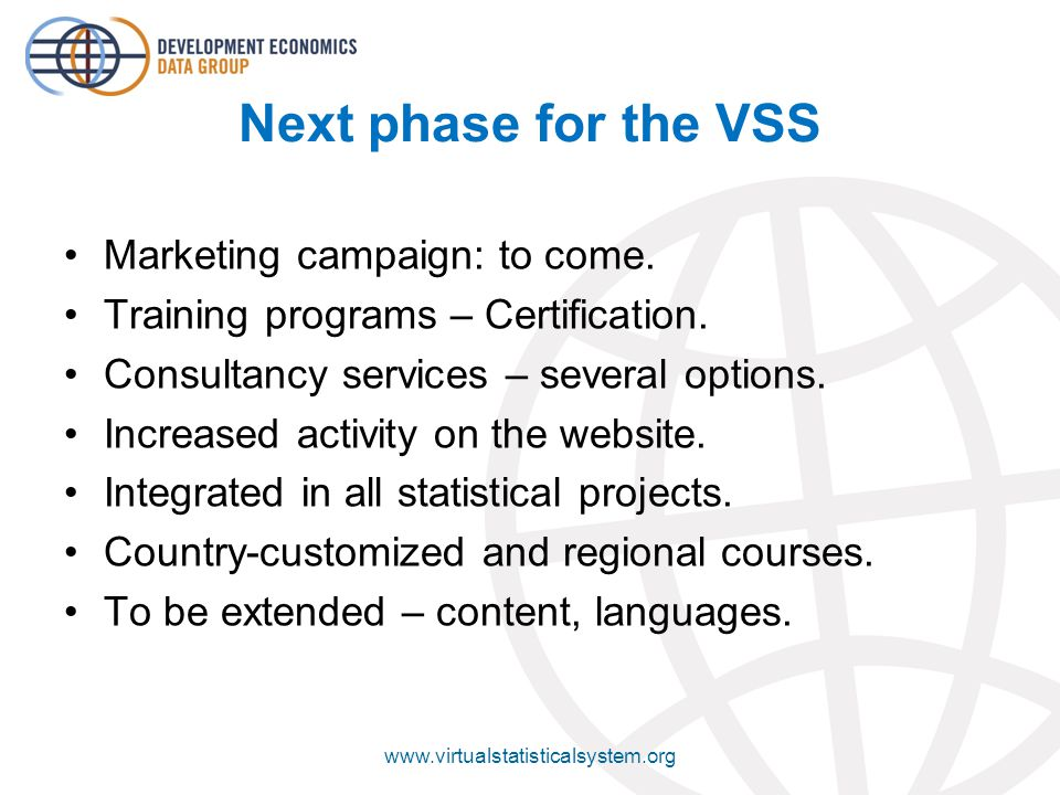 Next phase for the VSS Marketing campaign: to come.