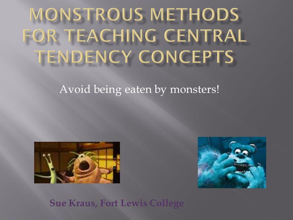 Avoid being eaten by monsters! Sue Kraus, Fort Lewis College