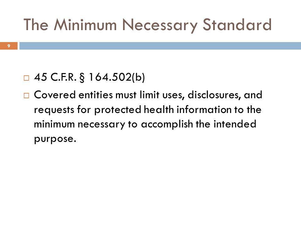 Authorized Disclosures  45 C.F.R.