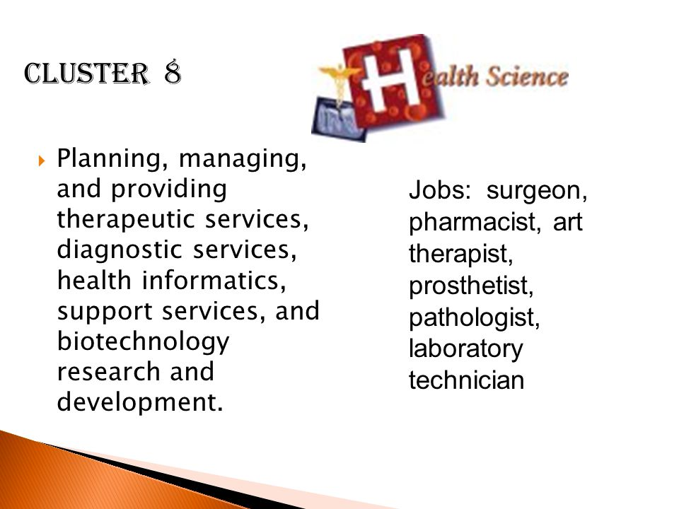  Planning, managing, and providing therapeutic services, diagnostic services, health informatics, support services, and biotechnology research and development.