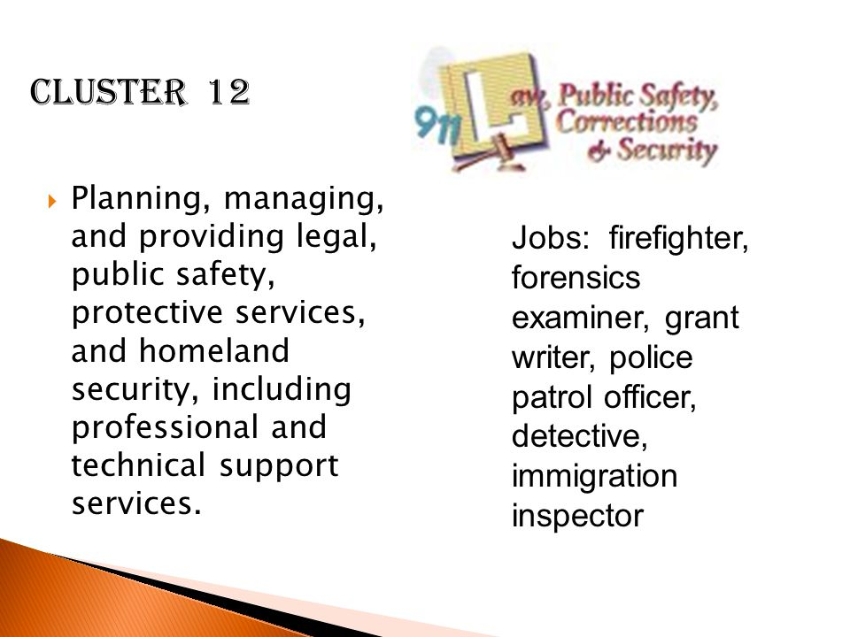  Planning, managing, and providing legal, public safety, protective services, and homeland security, including professional and technical support services.