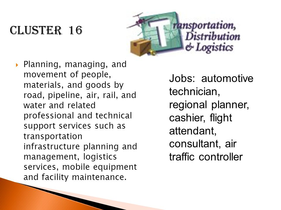  Planning, managing, and movement of people, materials, and goods by road, pipeline, air, rail, and water and related professional and technical support services such as transportation infrastructure planning and management, logistics services, mobile equipment and facility maintenance.