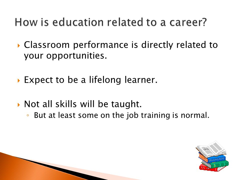  Classroom performance is directly related to your opportunities.