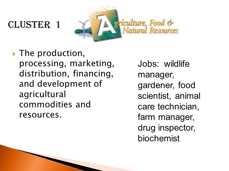  The production, processing, marketing, distribution, financing, and development of agricultural commodities and resources.