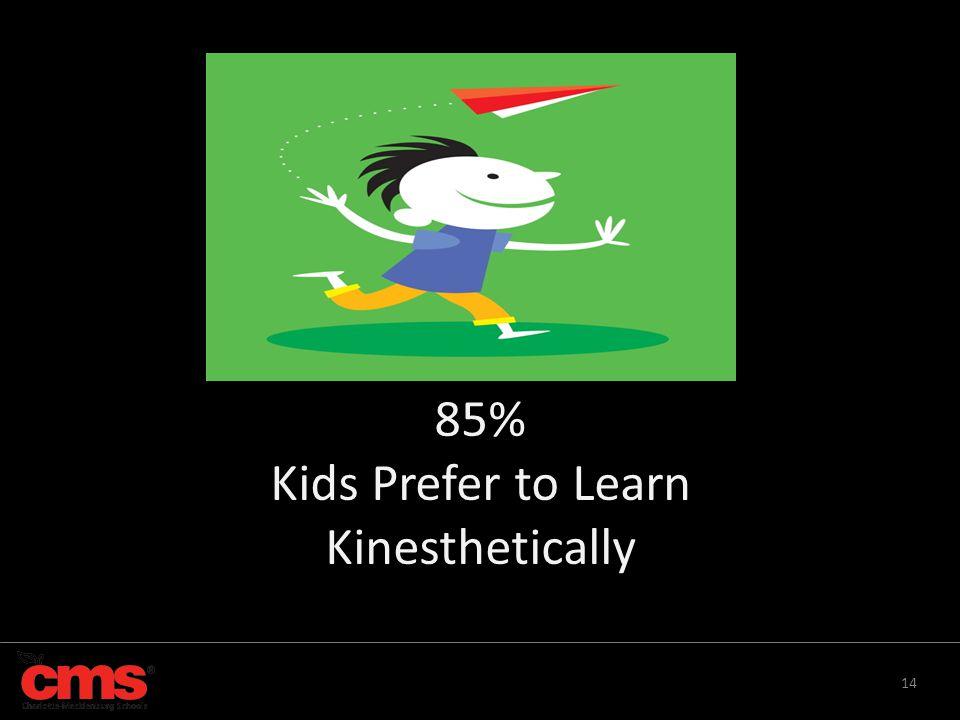 14 85% Kids Prefer to Learn Kinesthetically