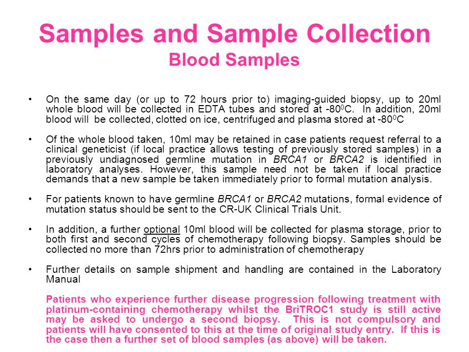 Samples and Sample Collection Blood Samples On the same day (or up to 72 hours prior to) imaging-guided biopsy, up to 20ml whole blood will be collected in EDTA tubes and stored at -80 0 C.