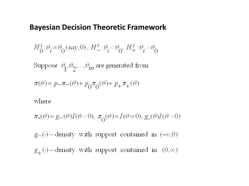 Bayesian Decision Theoretic Framework