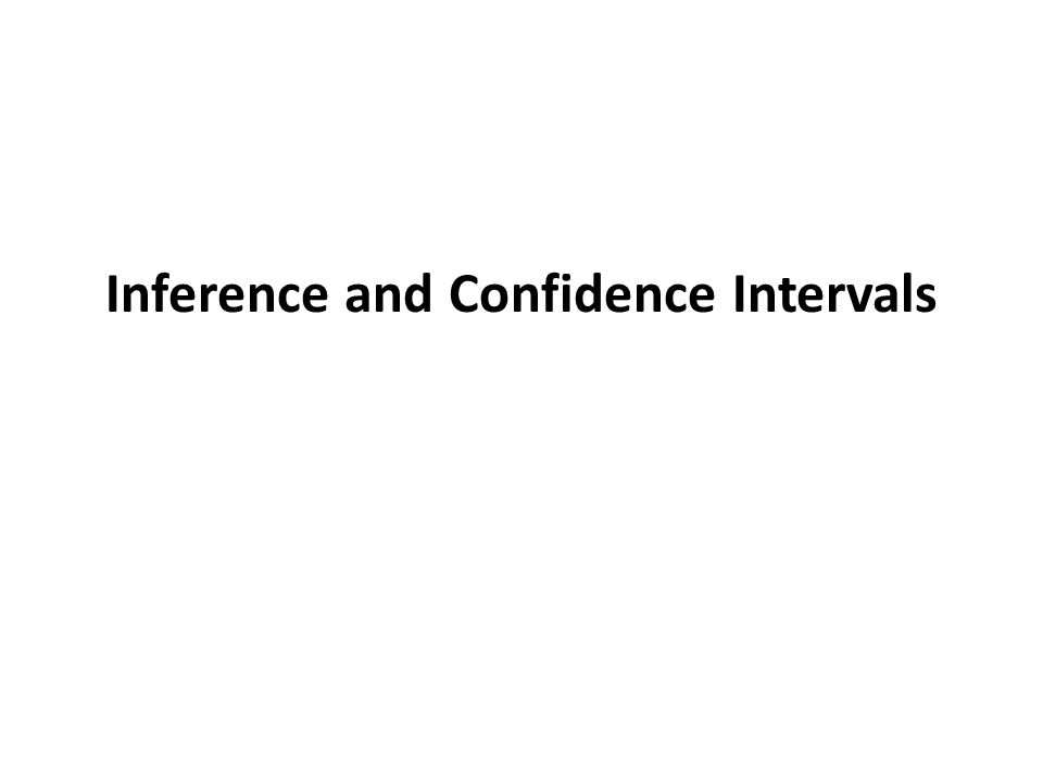Outline Inferring a population mean: Constructing confidence intervals Examining the difference between two means for the same person Confidence intervals for the difference between groups Confidence intervals for medians Summary