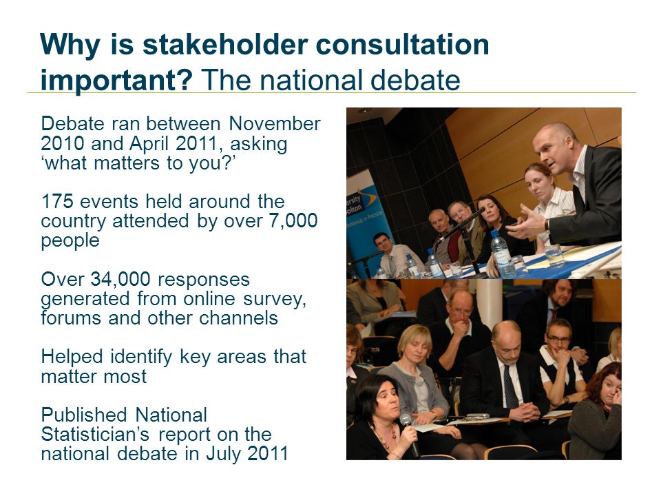 Why is stakeholder consultation important.