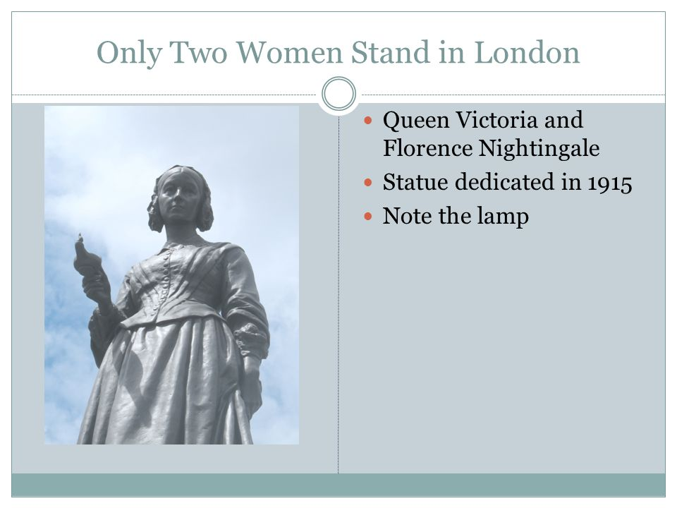 Only Two Women Stand in London Queen Victoria and Florence Nightingale Statue dedicated in 1915 Note the lamp
