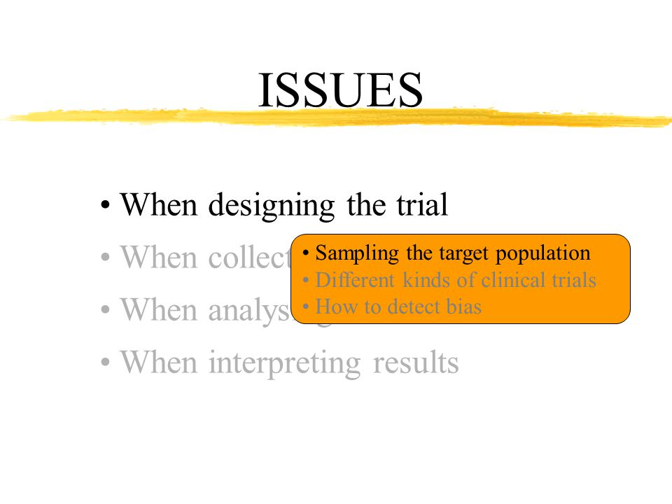 Sampling the target population There exist sources of variation that make the judgment criterion vary Example with two breeds Judgment criterion