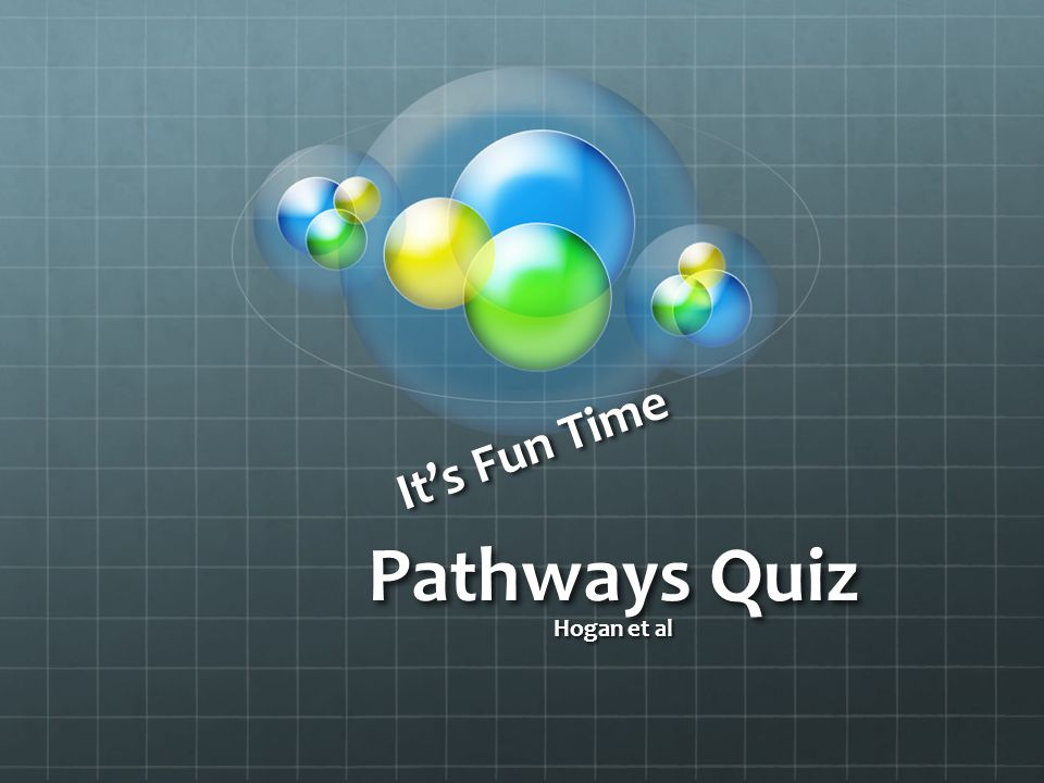 It's Fun Time Pathways Quiz Hogan et al