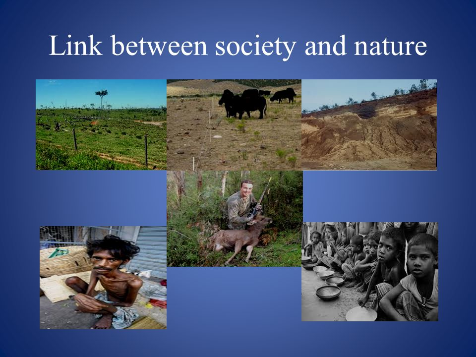 Link between society and nature