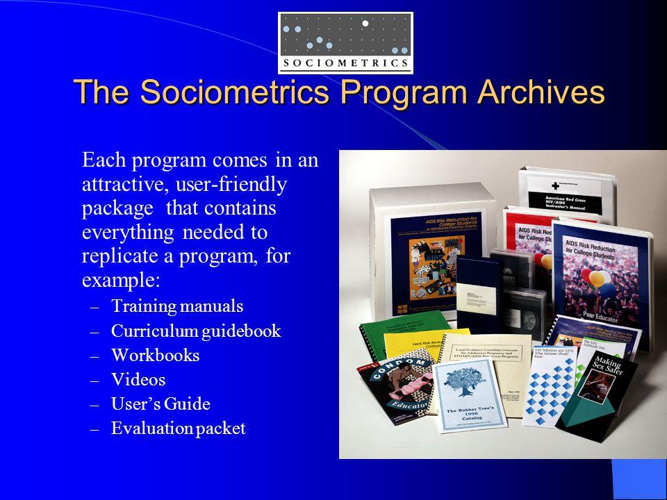 The Sociometrics Program Archives