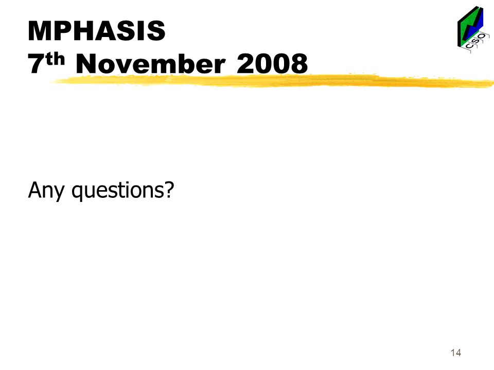 MPHASIS 7 th November 2008 Any questions 14