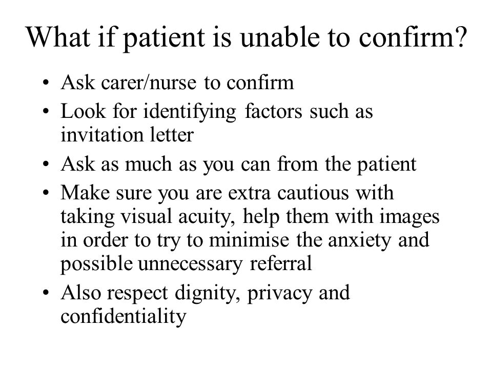 What to do if patient wishes to opt out.