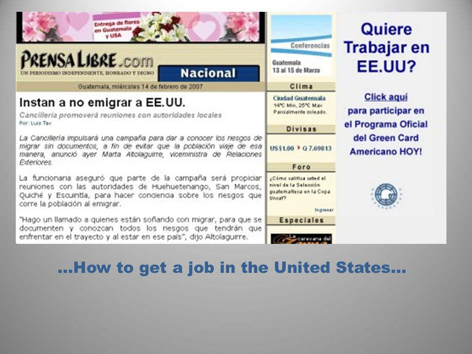 …How to get a job in the United States…
