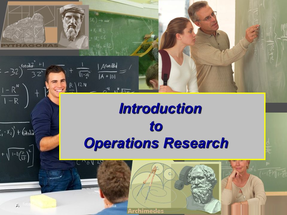 Introduction to Operations Research A