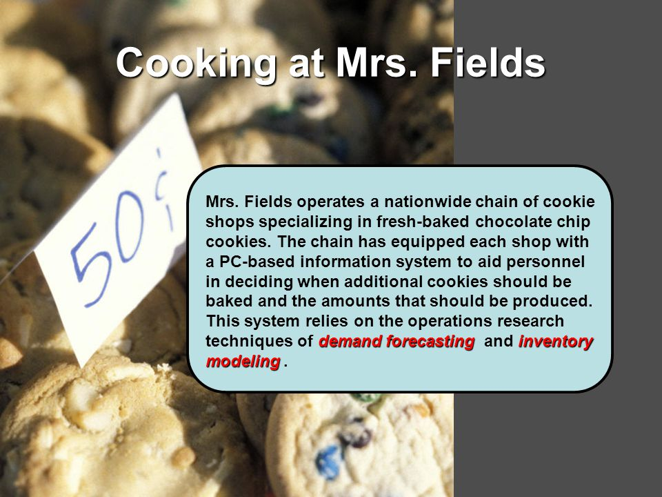 Cooking at Mrs. Fields Mrs.