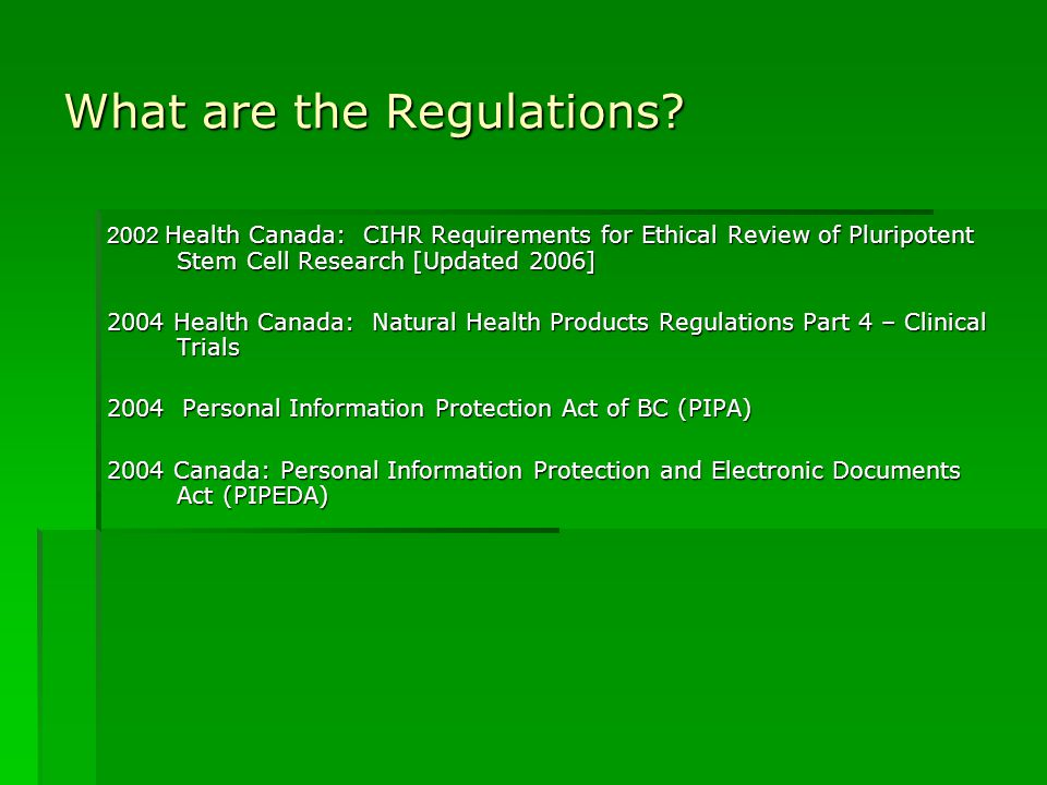 What are the Regulations.