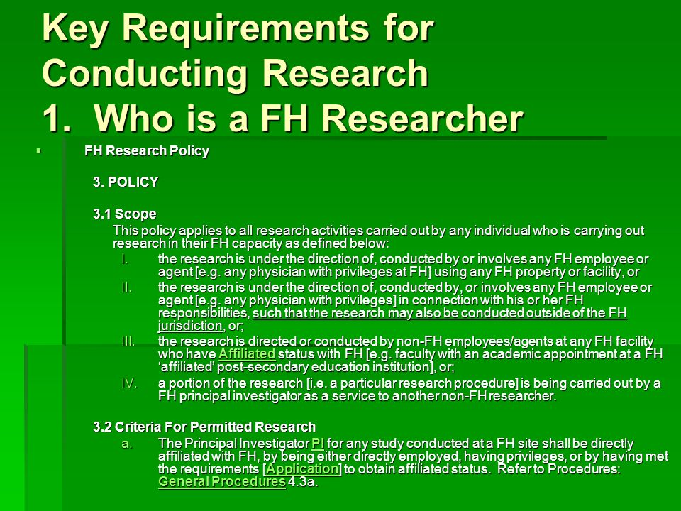 KEY REQUIREMENTS 2.What Initial Approvals are Required.