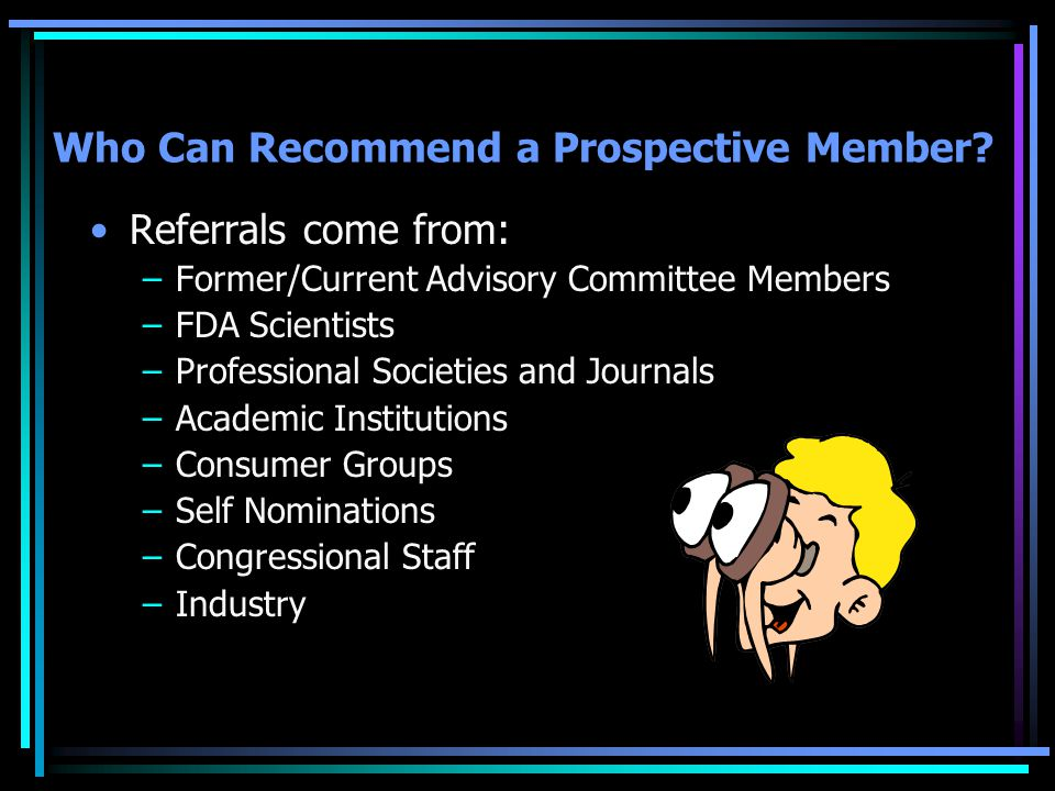 Who Can Recommend a Prospective Member.