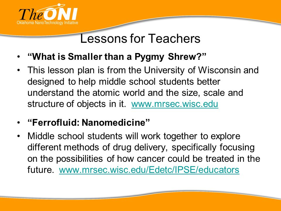 "Lessons for Teachers ""What is Smaller than a Pygmy Shrew?"" This lesson plan is from the University of Wisconsin and designed to help middle school stu"