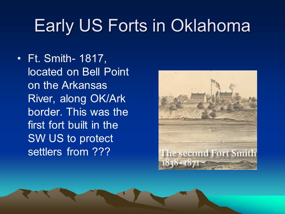 Early US Forts in Oklahoma Ft.