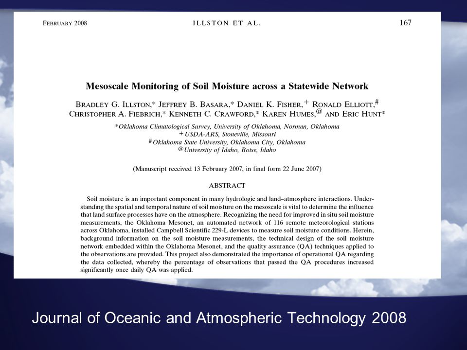 Journal of Oceanic and Atmospheric Technology 2008
