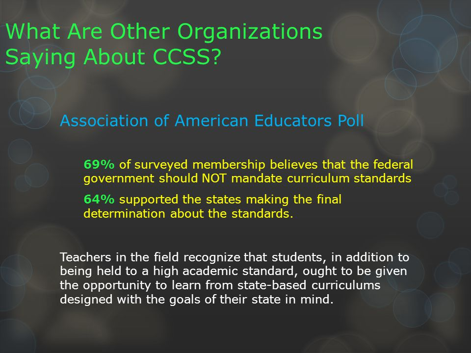 What Are Other Organizations Saying About CCSS.