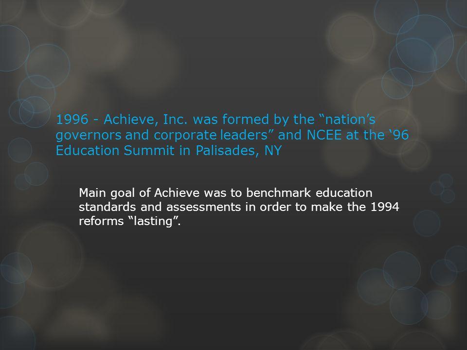 1996 - Achieve, Inc.