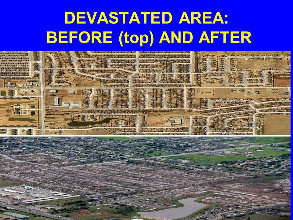 DEVASTATED RESIDENTIAL AREA