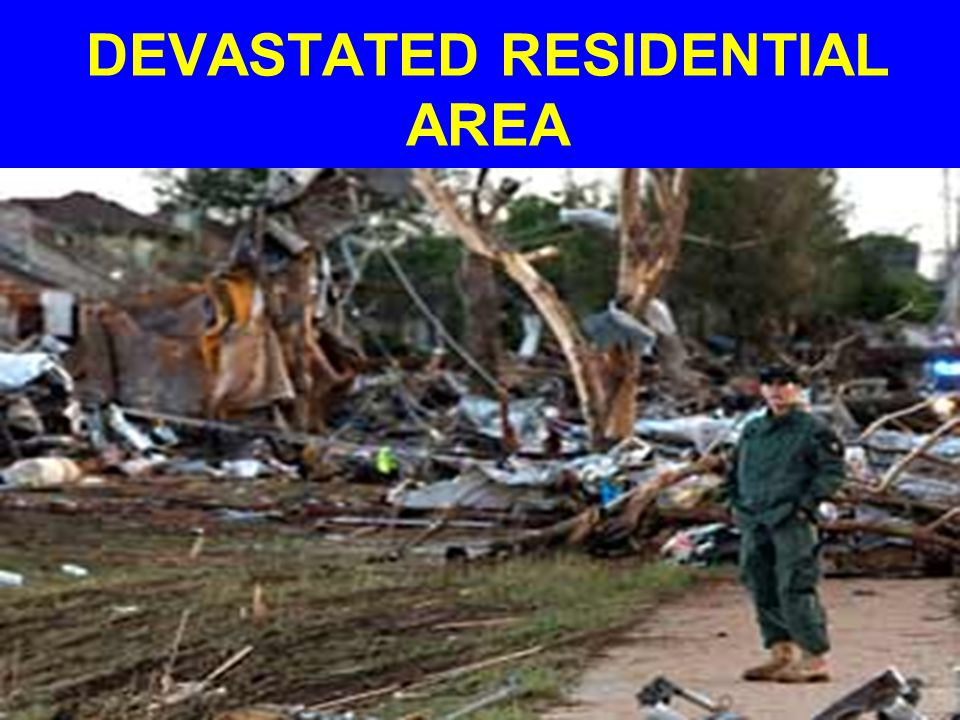 DEVASTATED RESIDENTIAL AREA
