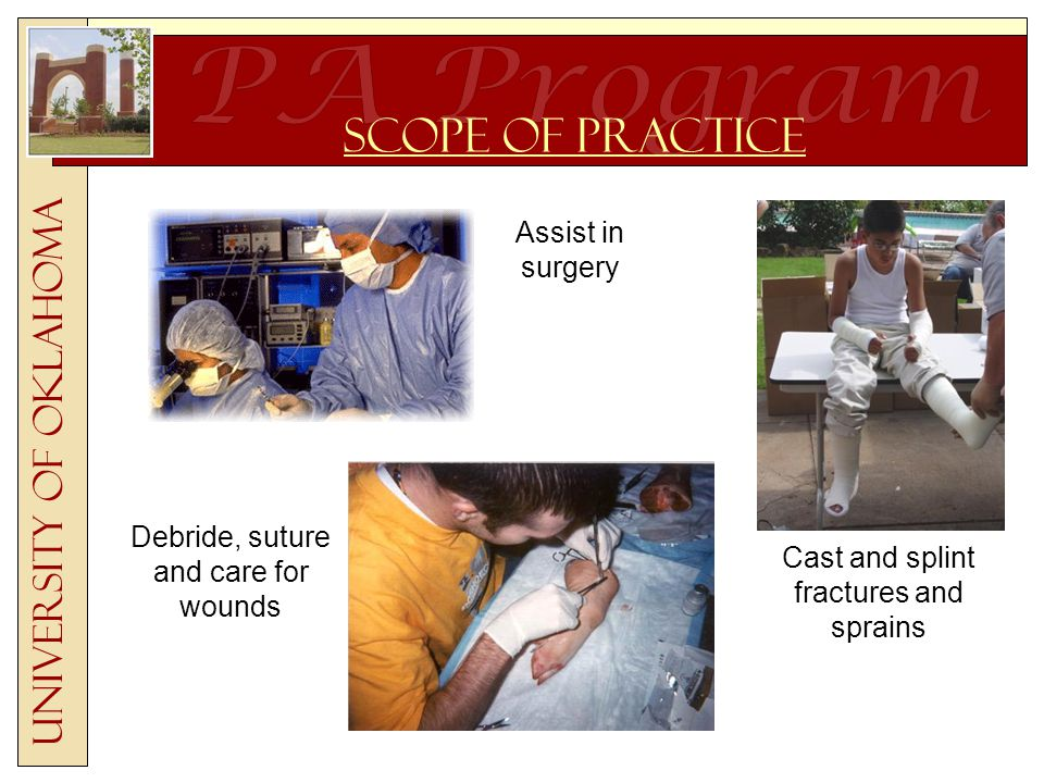 Pre-Health Professions clubs are often good sources of information Focus on work experience, volunteerism, leadership experience, and involvement in professional clubs (clubs, sororities, fraternities, diversity groups, etc) List shadowing experiences Document time spent with PA students University of Oklahoma Resume