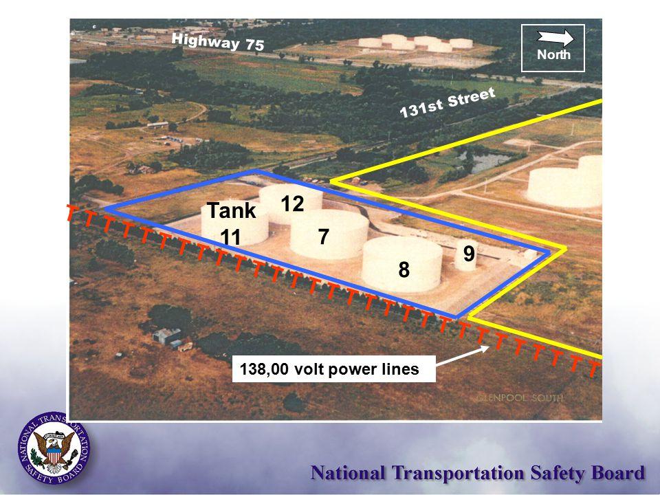 131st Street Highway 75 North Tank 11 9 12 8 7 T T T T T T T T T T T T T T T T T T T T T T T T T T T T T 138,00 volt power lines