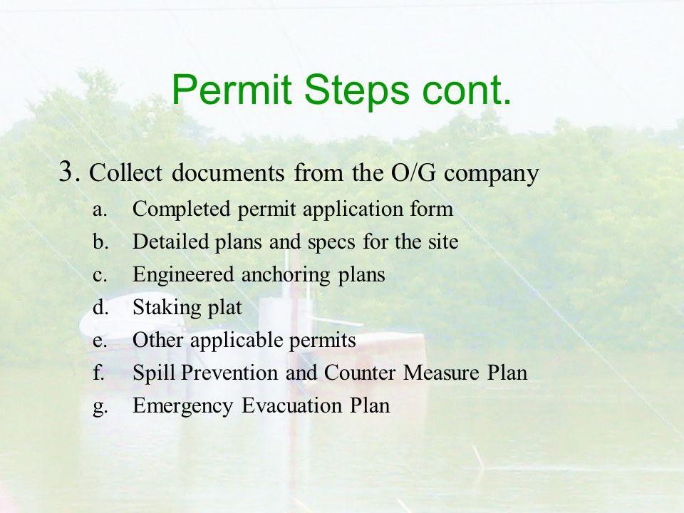 Permit Steps cont. 3.