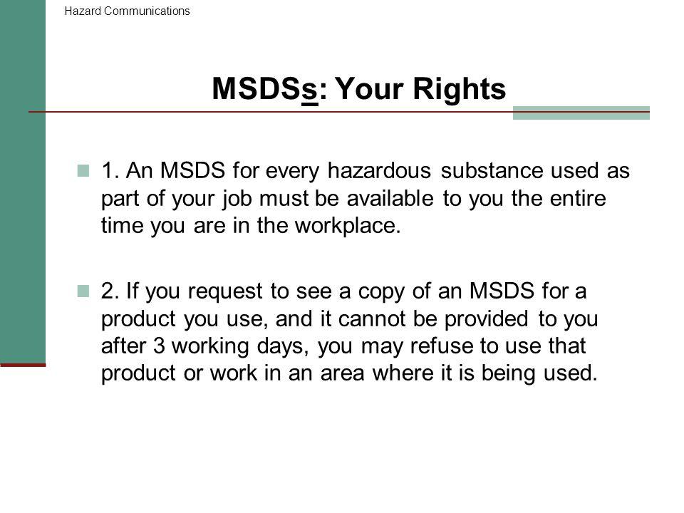 Hazard Communications Employee Training