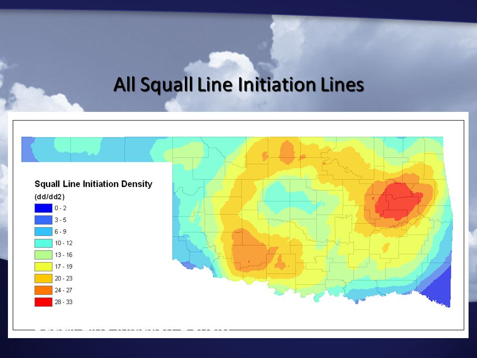 Squall Line Initiation Density All Squall Line Initiation Lines