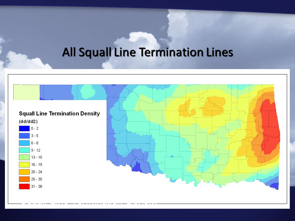 Squall Line Termination Density All Squall Line Termination Lines