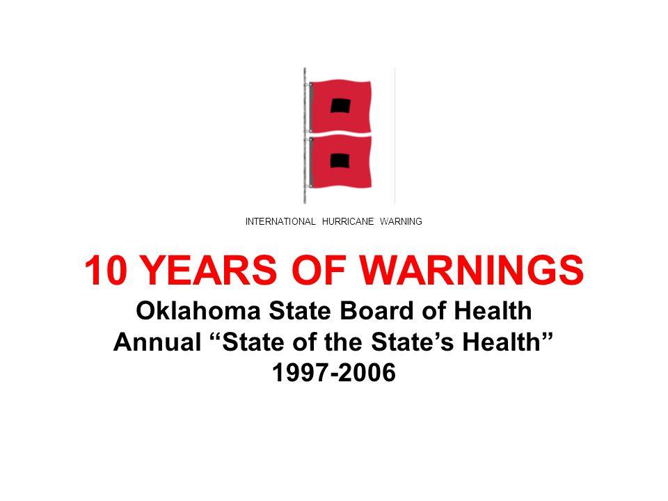 Oklahoma A State of Health.