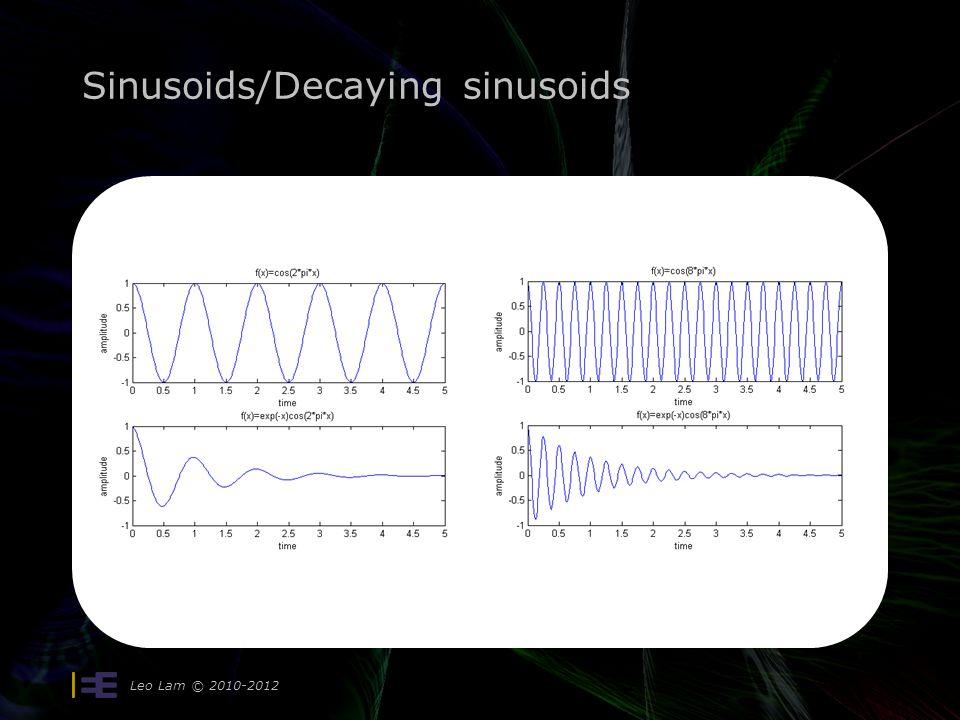 Sinusoids/Decaying sinusoids Leo Lam © 2010-2012
