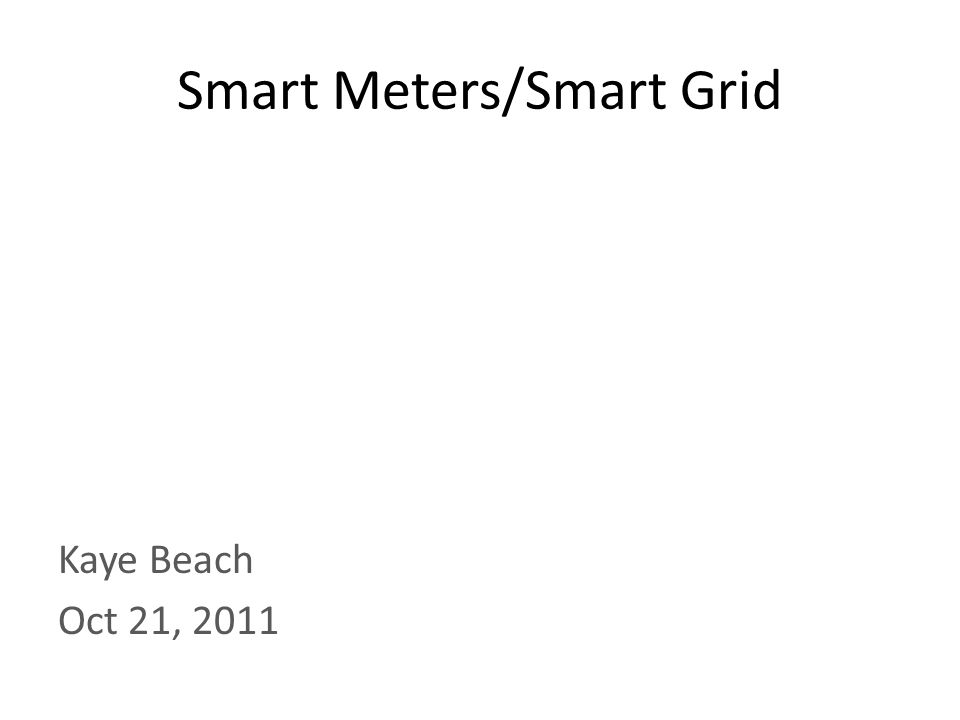 What is a Smart Meter Smart meters are a new type electrical meter that will measure your energy usage, like the old ones do now.