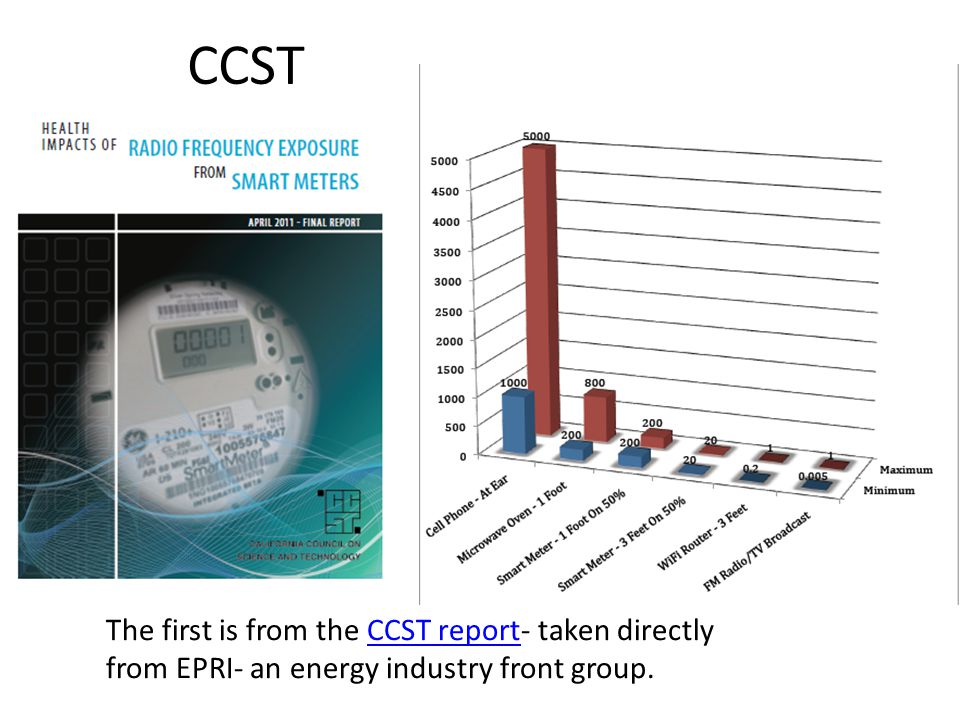 Health Impacts of Radio Frequency from Smart Meters by Daniel Hirsch 31 January 2011 This one is from Mr.