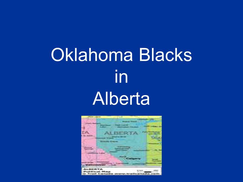 Oklahoma Blacks in Alberta