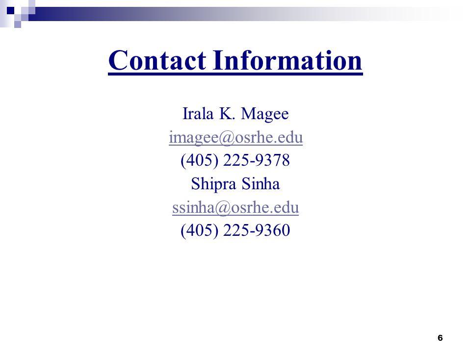 6 Contact Information Irala K.